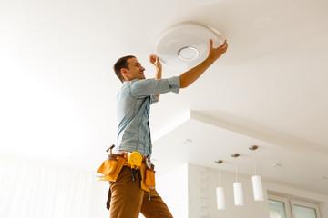 Electrician Installing Light 1